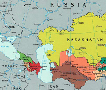 Карты Казахстана на русском языке: дороги, города и